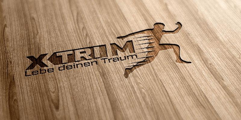 xtrim logo design fitness
