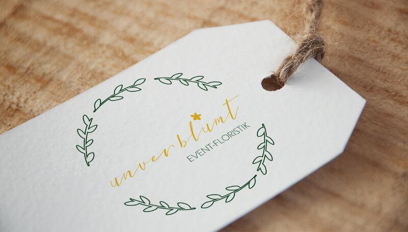 Hochzeitslogo Eventfloristik Unverblühmt 167181