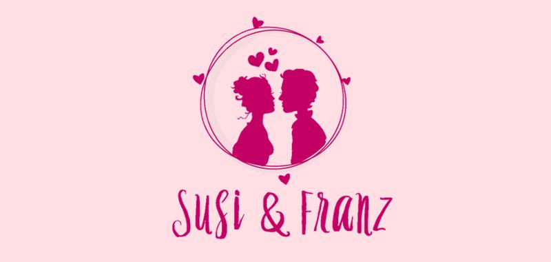 Schwungvolles Hochzeitslogo Hochzeitsmesse Susi und Franz