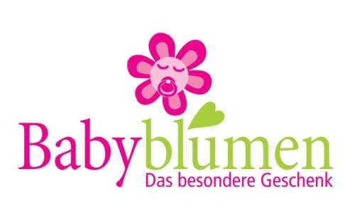 Babyblumen Geschenk Blumen Logo