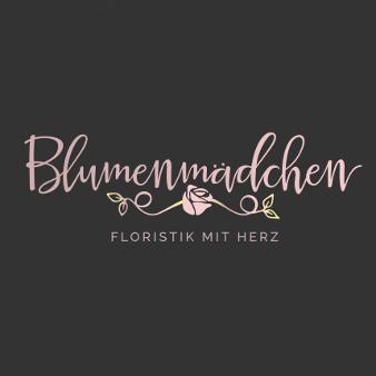 Blumen Logo Blumenmädchen Floristik mit Herz 655259