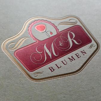 Blumenladen Logo Blumen M und R 262875