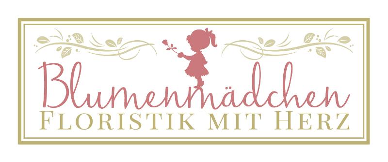 Blumenmädchen Floristik mit Herz Blumen Logo 655259