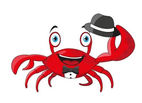 Maskottchen Design Krabbe