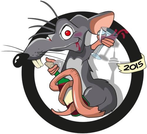 Maskottchen Ratte Design
