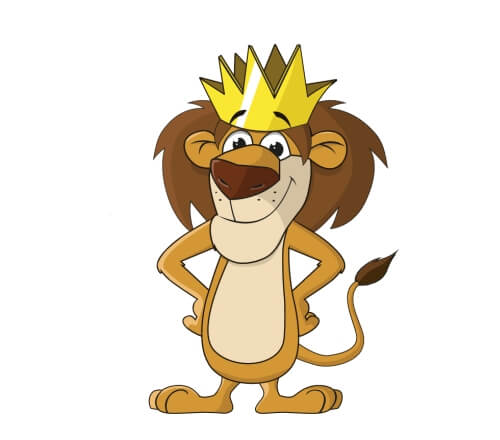 Löwe mit Krone Maskottchen
