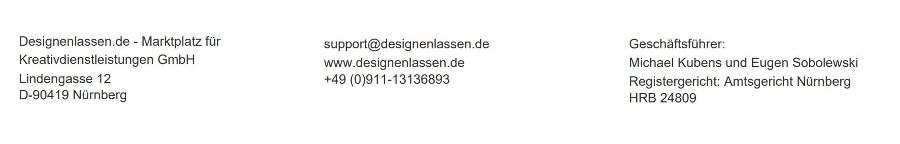 Brieffuß designenlassen.de