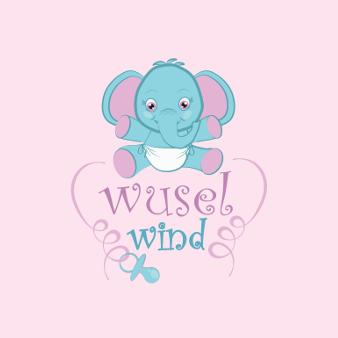 Baby Online Shop Logo Design Wuselwind 117484