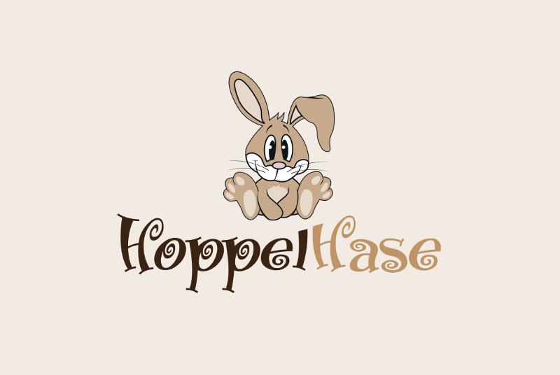 Hoppelhase Kindermode Logo Design 939353