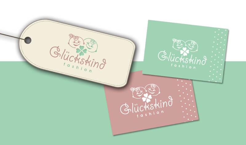 Kinderkleidung Logo Design Glückskind 287335