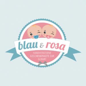 Logo Baby Online Shop Blau Rosa Geschenkpakete 339537