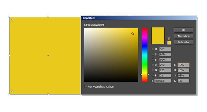 CMYK RGB gelb