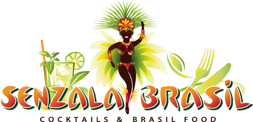 Senzala Brasil Cocktail Bar Logo Design