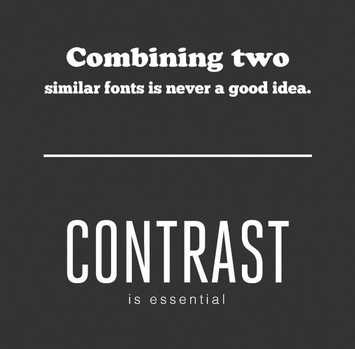 Schriftarten Fonts kombinieren