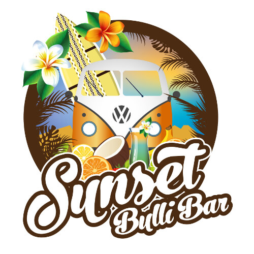Bar Logo-Design Sunset Bulli Bar