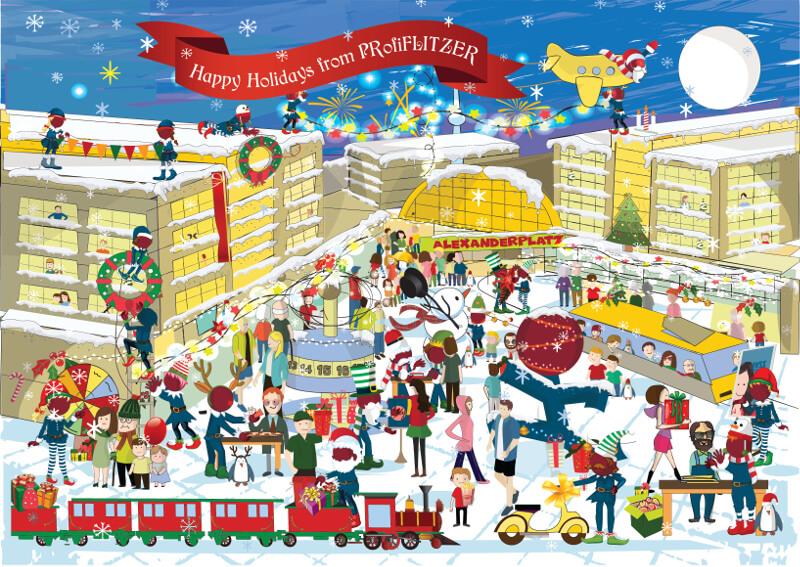 Design Wimmelbild Weihnachten