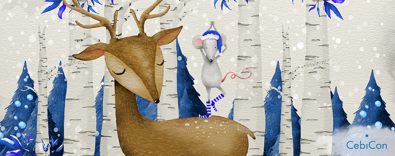 Elch Illustration Weihnachten