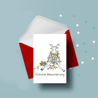 Elch Weihnachtskarte geschäftlich