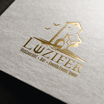 Luziferturm Restaurant Bar Logo-Designs 976416