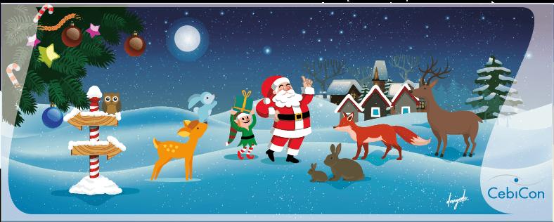 Weihnachts Design Illustration Weihnachtsmann