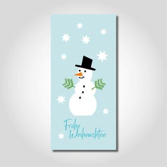 Weihnachtskarten design kreativ Schneemann