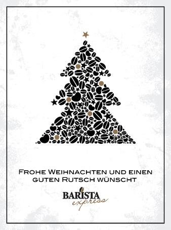 barista weihnachtskarten design weihnachtsbaum