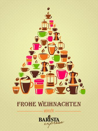 barista weihnachtskarten design