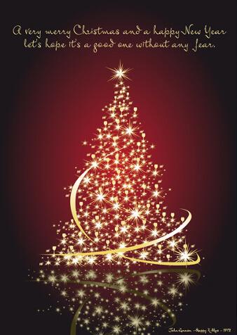 karte für weihnachten tannenbaum