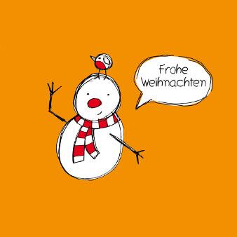 weihnachtsgrüße kreativ Schneemann
