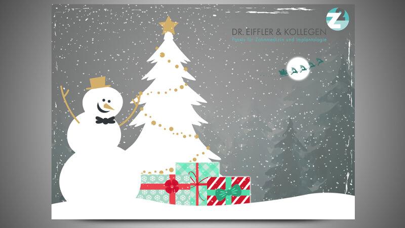 weihnachtskarte für firmen zahnarzt