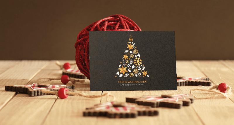 weihnachtskarte für firmen