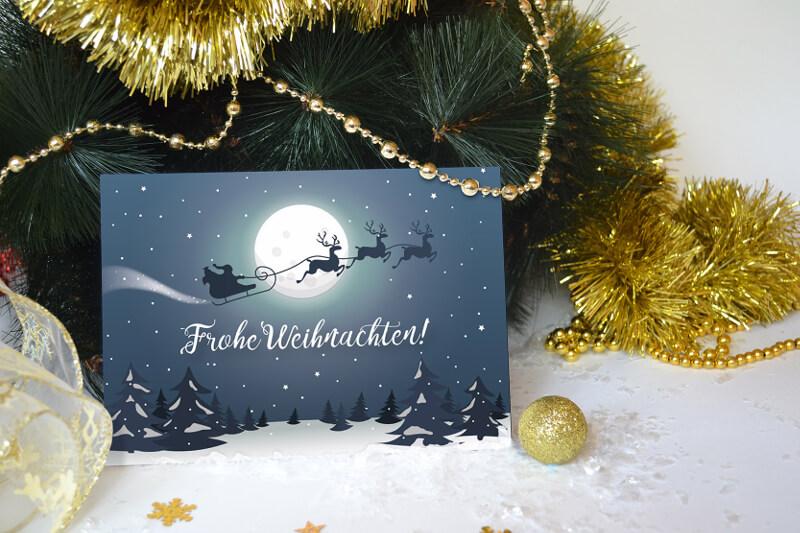 weihnachtskarte gestalten online