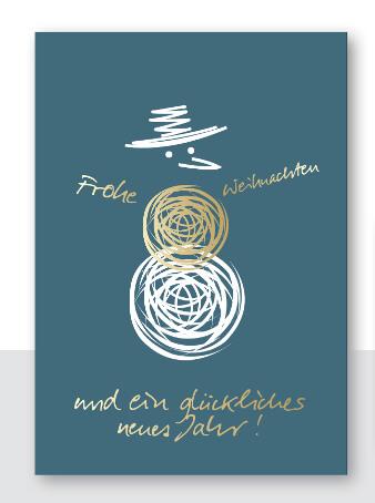 weihnachtskarten design abstrakt Schneemann