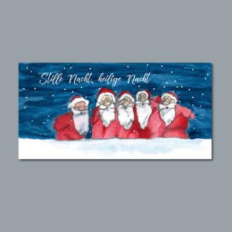 weihnachtskarten design illustriert