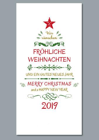 weihnachtskarten design kreativ weihnachtsbaum