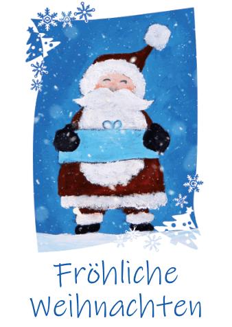 weihnachtskarten design weihnachtsmann