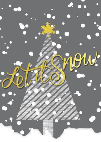 weihnachtskarten gestalten let it snow Schnee