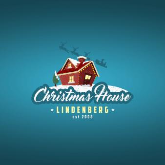 weihnachtslogo designchristmas house