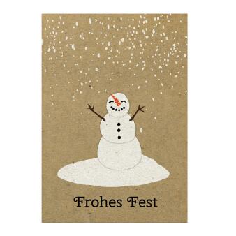 weihnachtswünsche geschäftlich schneemann
