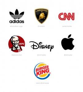 Das sind die 7 verschiedenen Logotypen