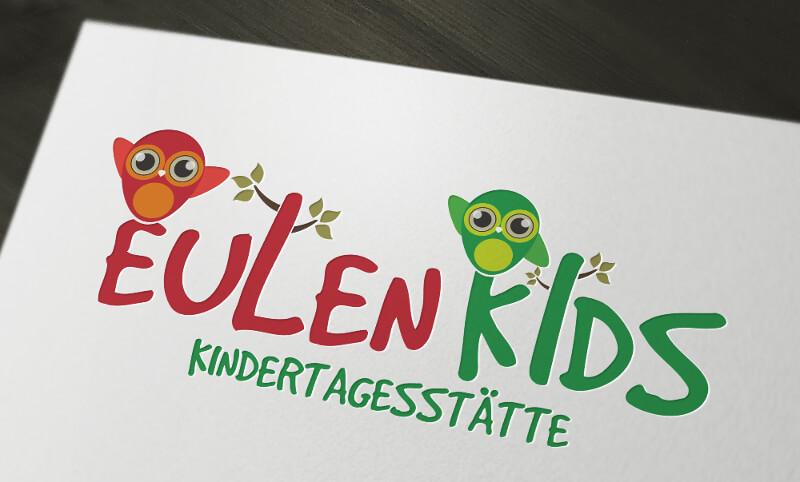 Kita Logo Design Eulen Kids Kindertagesstätte 433574