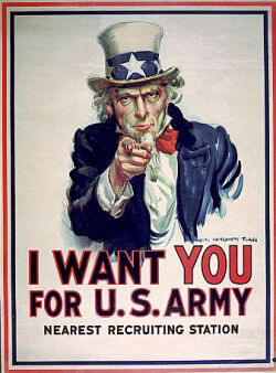 Plakat-Design I want you US army