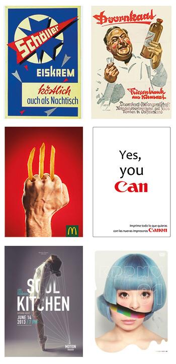 Plakat-Design Schöller, McDonald's, Canon