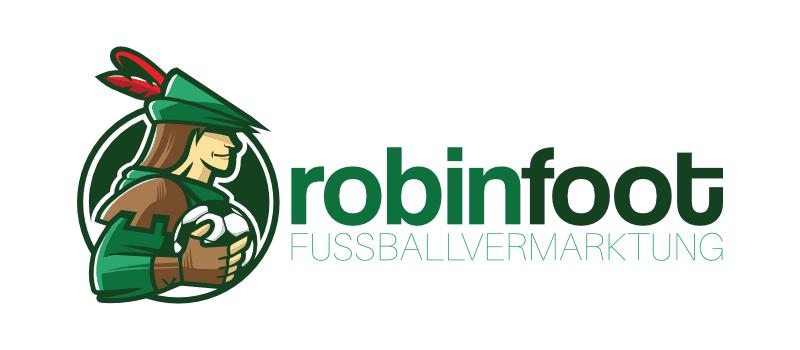 Fußballmarketing Logo robin foot Fußballagentur