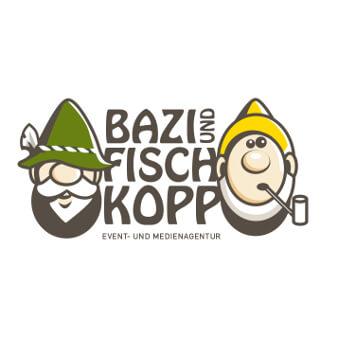 Logo Design Eventagentur Bazi und Fischkopp
