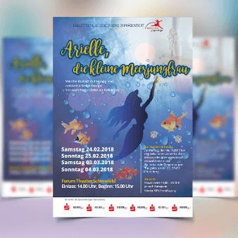 plakat design arielle meerjungfrau veranstaltung flyer