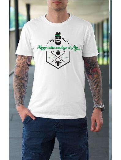 merchandise design t-shirt alpen kuh