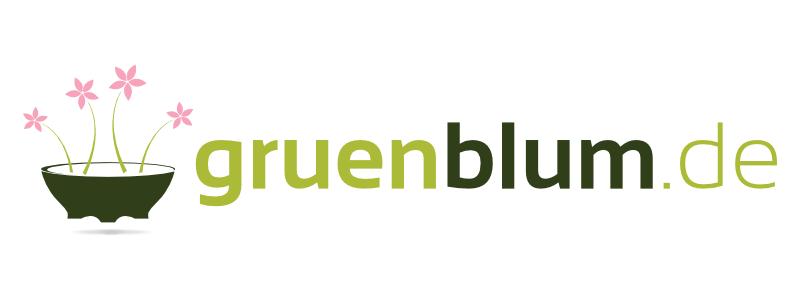 Logo Online Shop Blumen Garten gruenblum