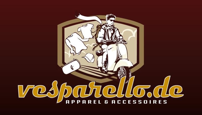 Logo Online Shop Roller Motorrad Vespa Vesparello