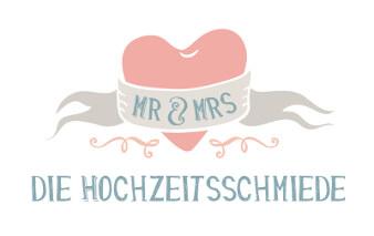 Mr & Mrs Hochzeitsschmiede Logo Online Shop